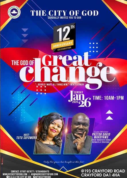 The God of Great Change